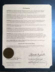 Pain Awareness Proclamation - Scotch Plains, NJ