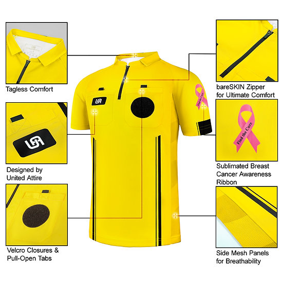 """Breast Cancer Awareness"" Soccer Referee Jersey"