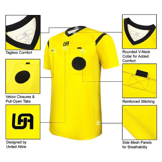 UnitedAttire Referee Jersey (Yellow)