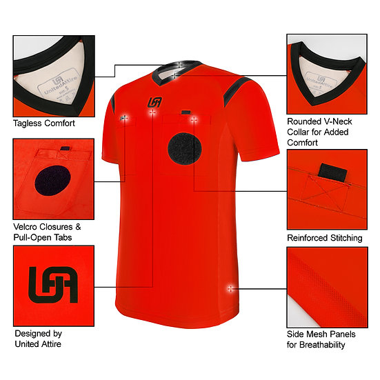 UnitedAttire Referee Jersey (Red)