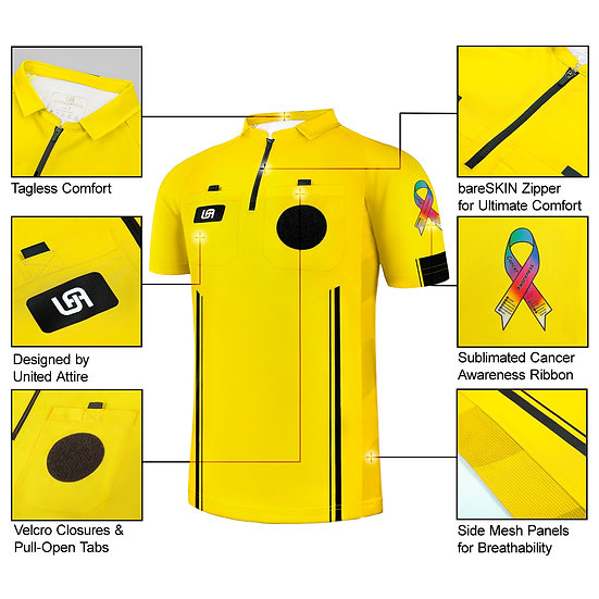"""Cancer Awareness"" Soccer Referee Jersey"