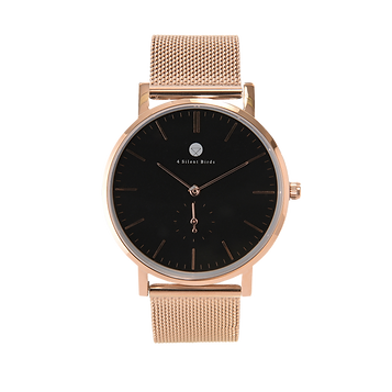 CONQUETTE 40MM | MILANESE |ROSE GOLD