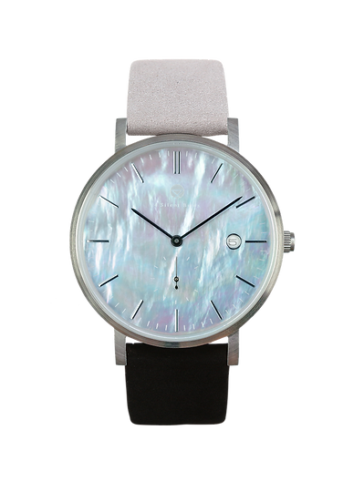 PEARL GEM SILVER 38MM | NUBACK | SNOW LIGHT
