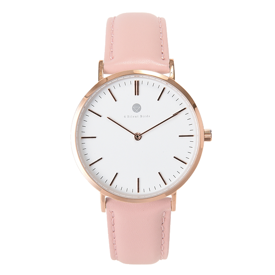 MANGOE 36MM | LEATHER | PEACH