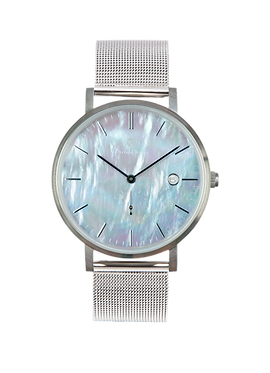 PEARL GEM SILVER 38MM | MILANESE | SILVER