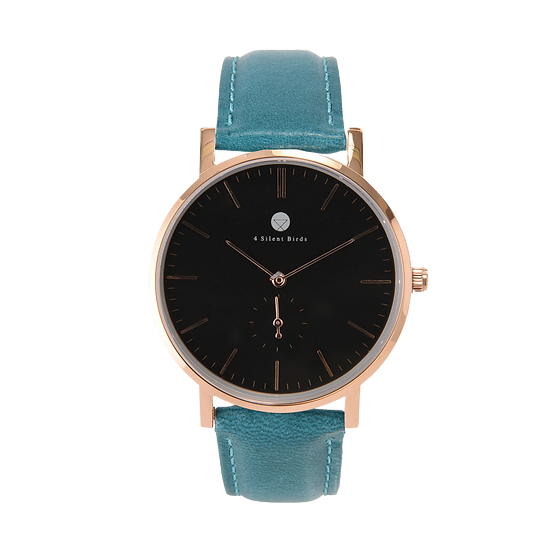 CONQUETTE 40MM | LEATHER | TEAL