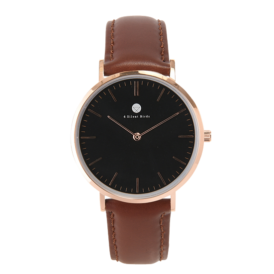 CONQUETTE 36MM | LEATHER | BURNT UMBER