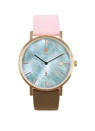 PEARL GEM ROSE GOLD 38MM | NUBACK | SWEET TOFEE