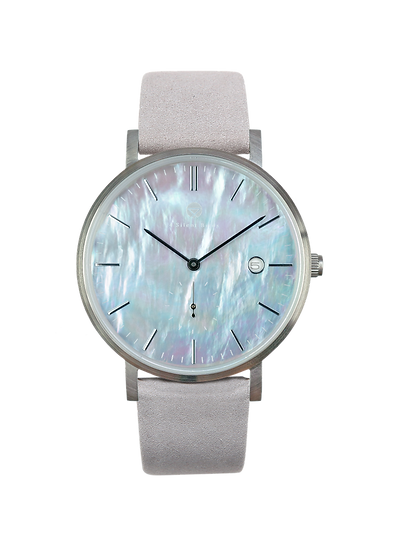 PEARL GEM SILVER 38MM | NUBACK | DRIZZLE