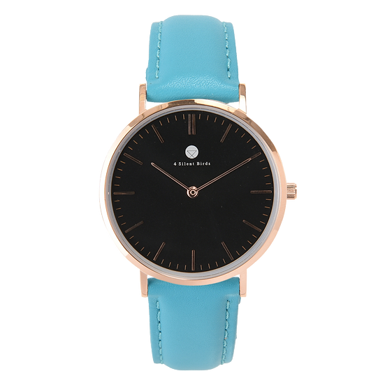 CONQUETTE 36MM | LEATHER | TURQUOISE BLUE