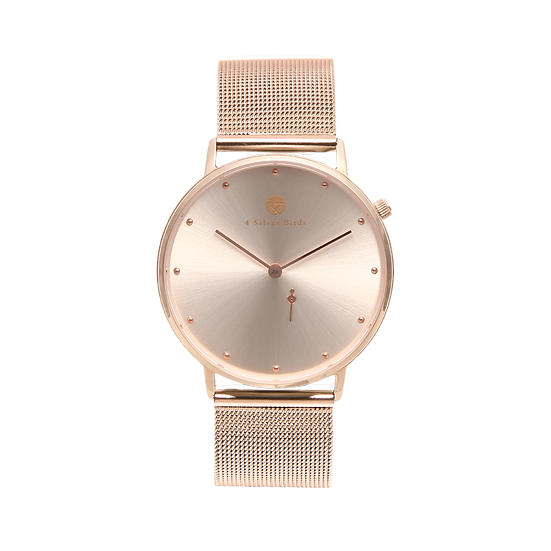 TOMMY BARN 36MM | MILANESE | ROSEGOLD
