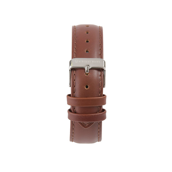 BURNT UMBER| LEATHER STRAP 36MM