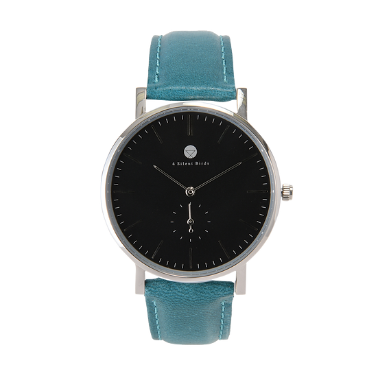 HERMIT 40MM | LEATHER | TEAL