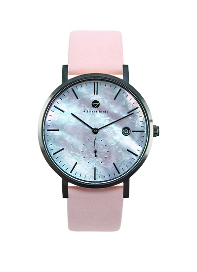 PEARL GEM BLACK 38MM | NUBACK | PALE DOGWOOD