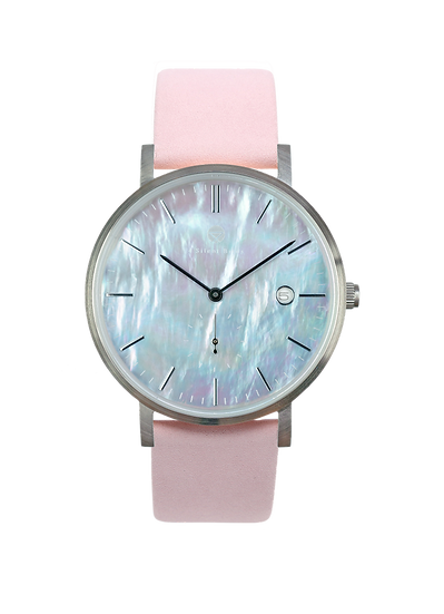 PEARL GEM SILVER 38MM | NUBACK | PALE DOGWOOD