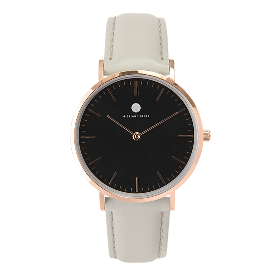 CONQUETTE 36MM | LEATHER | PLATINUM