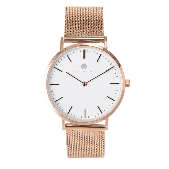 MANGOE 36MM | MILANESE | ROSE GOLD