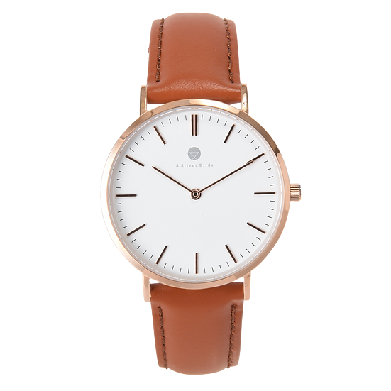 MANGOE 36MM | LEATHER | COCOA BROWN