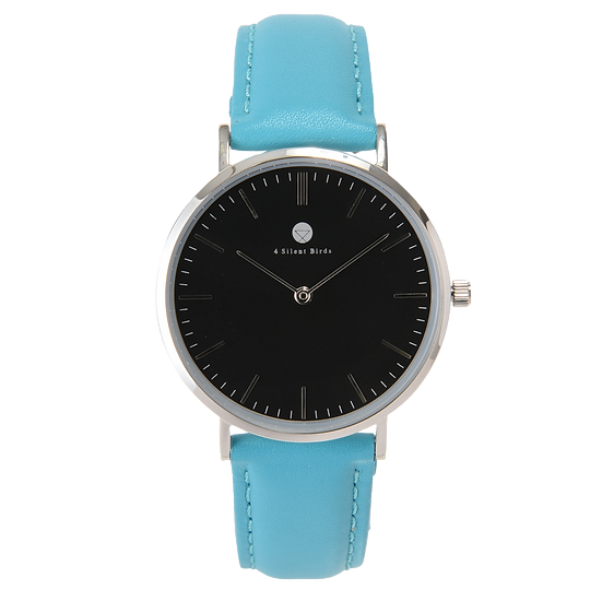 HERMIT 36MM | LEATHER | TURQUOISE BLUE