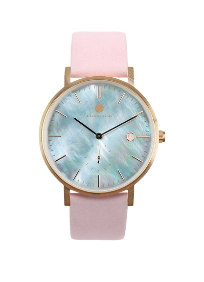 PEARL GEM ROSE GOLD  38MM | NUBACK | PALE DOGWOOD