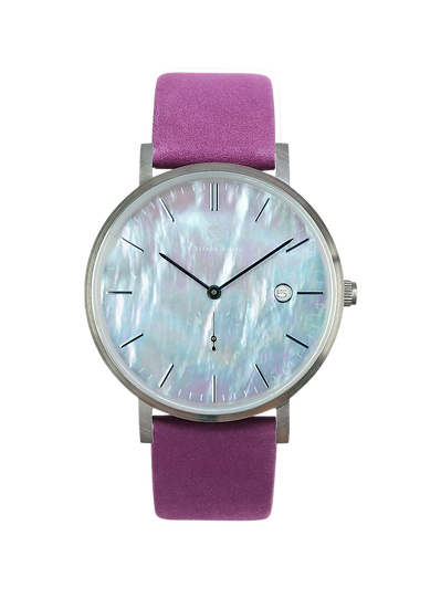 PEARL GEM SILVER 38MM | NUBACK | ROYAL LILAC