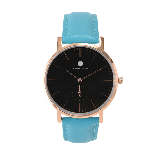 CONQUETTE 40MM | LEATHER | TURQUOISE BLUE