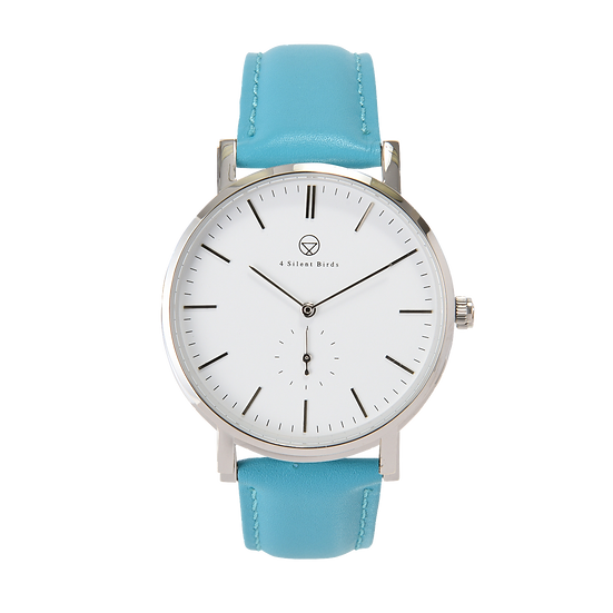PATAGONA 40MM | LEATHER | TURQUOISE BLUE