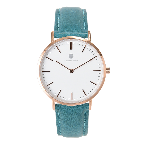 MANGOE 36MM | LEATHER | TEAL