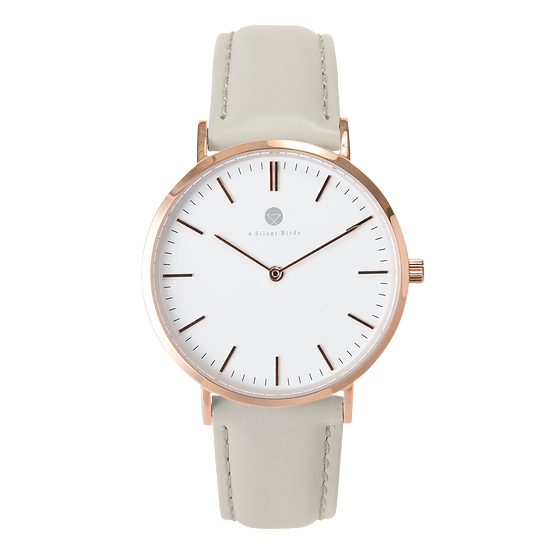 MANGOE 36MM | LEATHER | PLATINUM