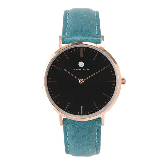 CONQUETTE 36MM | LEATHER | TEAL