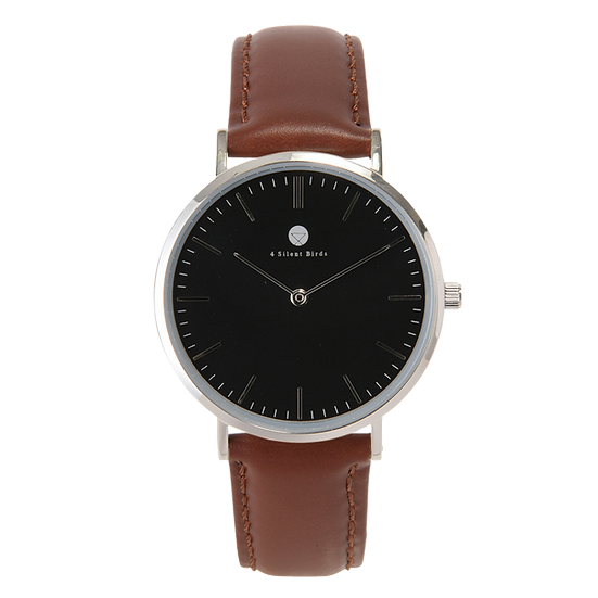 HERMIT 36MM | LEATHER | BURNT UMBER