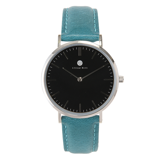 HERMIT 36MM | LEATHER | TEAL