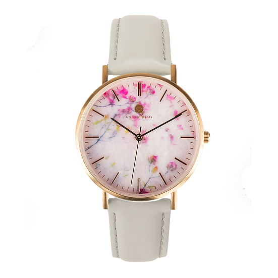ROSE FLORISUGA 36MM | LEATHER | PLATINUM