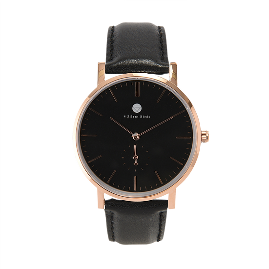 CONQUETTE 40MM | LEATHER | ONYX