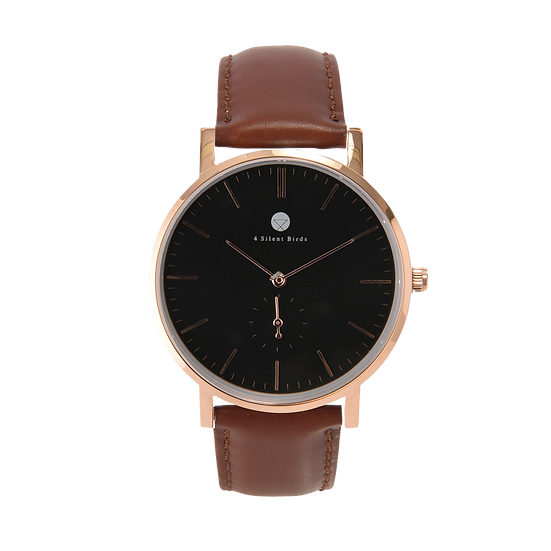 CONQUETTE 40MM | LEATHER | BURNT UMBER
