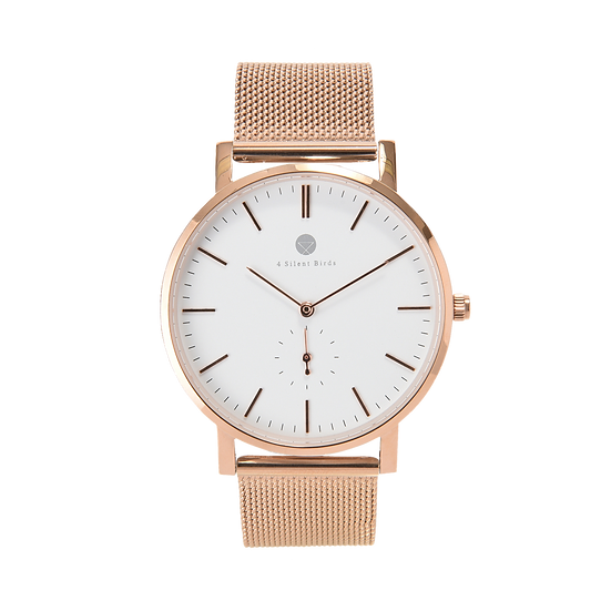 MANGOE 40MM | MILANESE | ROSE GOLD