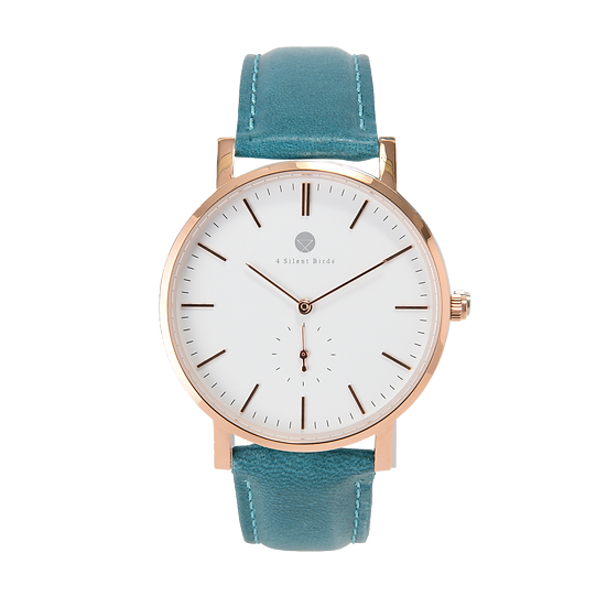 MANGOE 40MM | LEATHER | TEAL