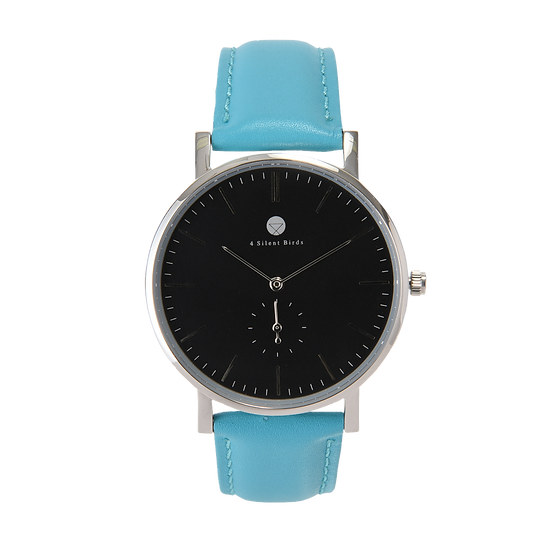 HERMIT 40MM | LEATHER | TURQUOISE BLUE