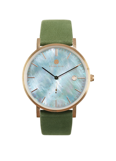 PEARL GEM ROSE GOLD  38MM | NUBACK | KALE