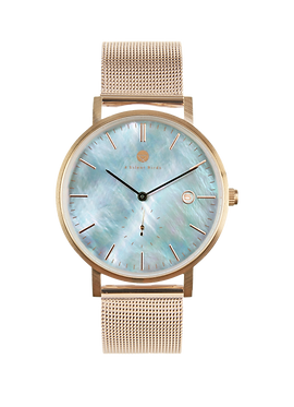 PEARL GEM ROSE GOLD 38MM | MILANESE | ROSEGOLD