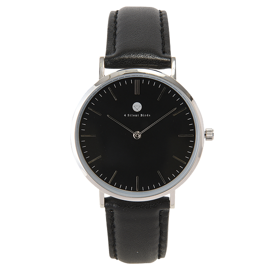 HERMIT 36MM | LEATHER | ONYX