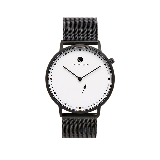 EIGHT HOOTER 36MM | MILANESE | BLACK