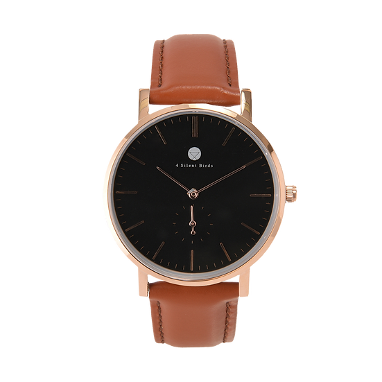 CONQUETTE 40MM | LEATHER | COCOA BROWN