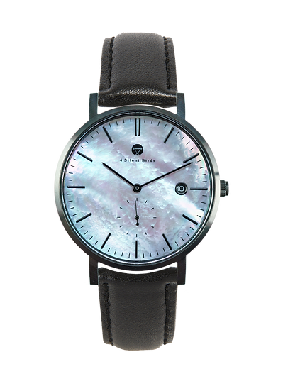 PEARL GEM BLACK 38MM | LEATHER | ONYX