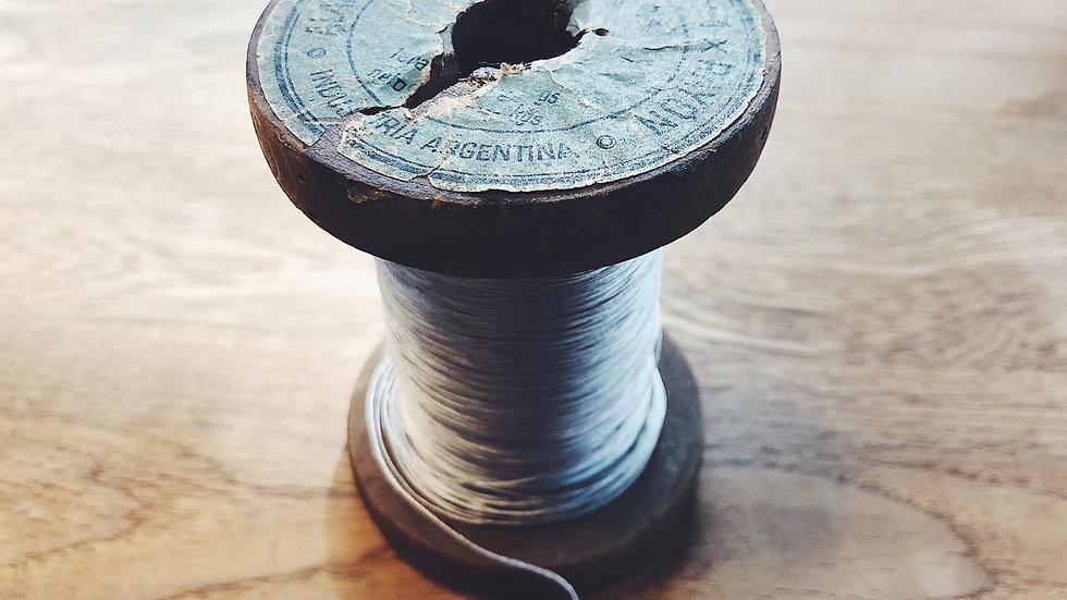 1910〜1920's ALAMBRE DE COBRE ESMALTADO Y1 × RAYON(人工絹)絶縁 28AWG ブラウン エナメル単線