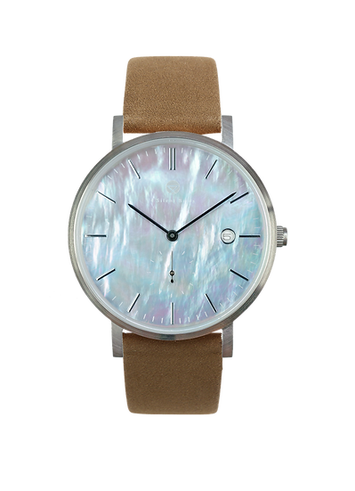 PEARL GEM SILVER 38MM | NUBACK | OTTER
