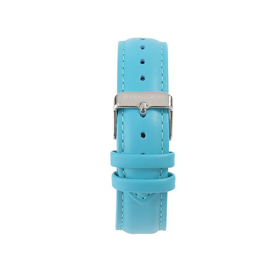 TURQUOISE BLUE | LEATHER STRAP 40MM