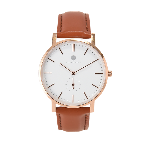 MANGOE 40MM | LEATHER | COCOA BROWN