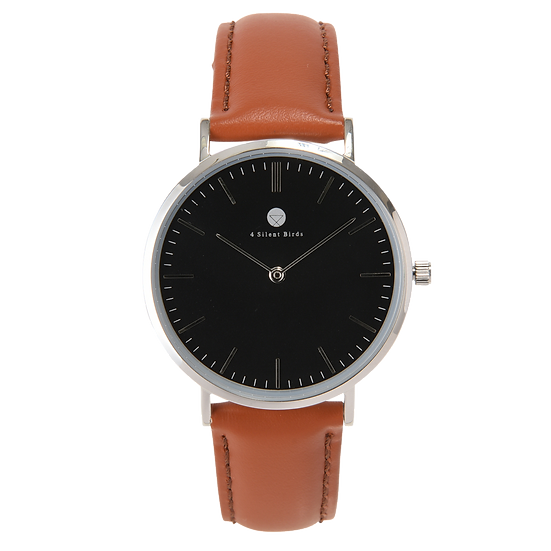 HERMIT 36MM | LEATHER | COCOA BROWN