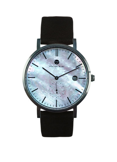 PEARL GEM BLACK 38MM | NUBACK | MIDNIGHT